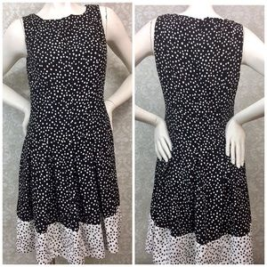 ☂️Ralph Lauren Black White Polka A-line Dress